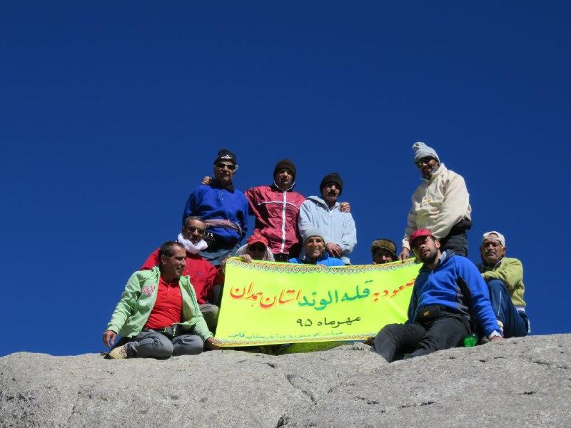 di-7MGD صعود تیم کوهنوردی قاینات به قله الوند