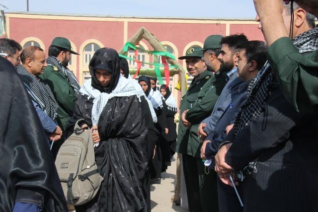 di-F1IP اعزام 165 دانشآموز دختر قاینی به مناطق عملیاتی 8 سال دفاع مقدس سفر راهیان نور یک حج بصیرتی است