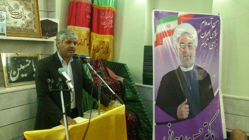 افتتاح ستادهای دکتر روحانی در قاین حرکت قاینـات در ریل انتخابات