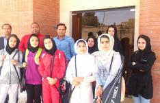 di-QA7W شرکت دختران نوجوان قاینات در مسابقات بدمینتون استان